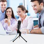 Microphone Usb Microphone Condenseur Filaire Micro Studio Audio Podcast Microphone Jack avec Etagère de Support pour PC Ordinateur Portable de la marque image 4 produit