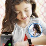 Montre Connectée, Bluetooth Sport Etanche Smartwatch Soutien SIM/TF Carte avec Caméra Ecran Tactile Pédomètre Moniteur de Sommeil Bracelet pour Samsung Huawei Android iPhone ios Femme Homme Enfant de la marque Adhope image 1 produit