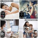 Montre Connectée, Bluetooth Sport Etanche Smartwatch Soutien SIM/TF Carte avec Caméra Ecran Tactile Pédomètre Moniteur de Sommeil Bracelet pour Samsung Huawei Android iPhone ios Femme Homme Enfant de la marque Adhope image 4 produit