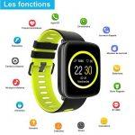 Montre Connectée pour iPhone et Android,Willful SW018 Bluetooth Smartwatch étanche IP68 Montre Fitness Montre Sport (Cardiofréquencemètre, Podomètre, Sommeil) avec Écran Tactile, Réveil, Chronomètre, Appel SMS Afficher, Notification d'application ( Wh image 1 produit