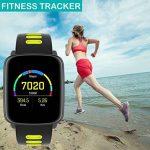 Montre Connectée pour iPhone et Android,Willful SW018 Bluetooth Smartwatch étanche IP68 Montre Fitness Montre Sport (Cardiofréquencemètre, Podomètre, Sommeil) avec Écran Tactile, Réveil, Chronomètre, Appel SMS Afficher, Notification d'application ( Wh image 3 produit