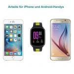 Montre Connectée pour iPhone et Android,Willful SW018 Bluetooth Smartwatch étanche IP68 Montre Fitness Montre Sport (Cardiofréquencemètre, Podomètre, Sommeil) avec Écran Tactile, Réveil, Chronomètre, Appel SMS Afficher, Notification d'application ( Wh image 6 produit