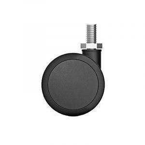 MyLifeUNIT Chaise de bureau Caster Ensemble de roues, roulette caoutchouc Chaise Roulettes, 5pcs noir de la marque image 0 produit