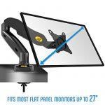 """NB F80 - Support design professionnel pour écrans PC LCD LED 43-69 cm / 17-27"""". Réglage dans plusieurs axes, pivot, qualité supérieure. Ressort à gaz. jusqu'à 6,5 kg de la marque image 1 produit"""