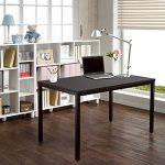 Need Bureau 120x60cm d'ordinateur Table Informatique Meuble de bureau pour Ordinateur pour salle à manger, salon, cuisine, Noir de la marque image 1 produit