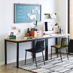 Need Bureau 120x60cm d'ordinateur Table Informatique Meuble de bureau pour Ordinateur pour salle à manger, salon, cuisine, Teck Chêne Couleur de la marque image 6 produit