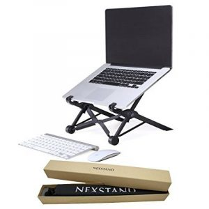 Nexstand, Laptop Stand,Foldable & Adjustable Notebook Holder Eye-Level Ergonomic Lightweight Compact Universal Fit for PC Macbook Computer Black de la marque NEXSTAND image 0 produit
