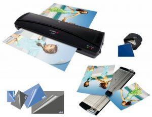 Olympia 4 en 1 Set, Plastifieuse pour format max. DIN A 4 (230 mm), Chaud Froid, Noir de la marque image 0 produit