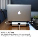 OMOTON Support PC Et Ordinateur Portable Pour Apple Macbook Air, Macbook 13/15 et Tous les Ordinateurs Portables, Support De Bureau En Alliage D'aluminium de la marque image 3 produit