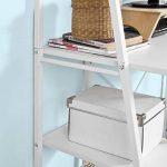 Promotion -17% ! SoBuy® FWT29-W Bureau informatique, Secrétaire Table plan de travail avec 3 étagères cadre métal -Blanc de la marque image 5 produit