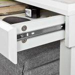Promotion -30% ! SoBuy® Bureau Informatique Secrétaire Table Plan de travail avec 2 tiroirs cadre métal FWT27-W de la marque image 5 produit