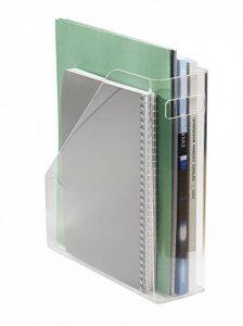 Rangement de fournitures de bureau mDesign pour dossiers, classeurs, magazines, Livres - Transparent de la marque image 0 produit