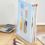 Rangement de fournitures de bureau mDesign pour dossiers, classeurs, magazines, Livres - Transparent de la marque image 1 produit