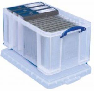 Really Useful Box Boîte à fiche en polypropylène 48 L Transparent de la marque image 0 produit
