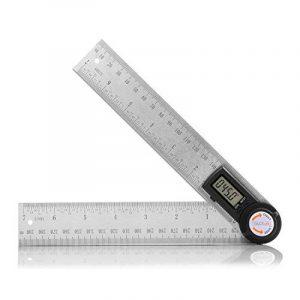 Règle Numérique 400 mm Tacklife MDA01 Classique en Acier Inoxydable /Règle d'Angle /Mesure de Longueur et d'Angle /Système Métrique et Impérial /Ecran LCD de la marque image 0 produit