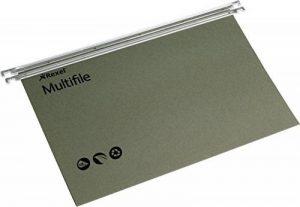 Rexel Multifile dossiers suspendus, papier recyclé, Ministre, lot de 50 (vert) de la marque image 0 produit
