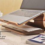 Samdi élégant support de bureau en bois dégagement de chaleur pour ordinateur portable ordinateur portable MacBook Air MacBook Pro Support de refroidissement par Samdi de la marque image 6 produit