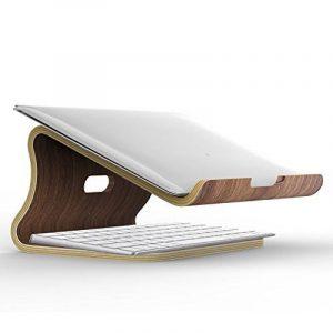 Samdi élégant support de bureau en bois dégagement de chaleur pour ordinateur portable ordinateur portable MacBook Air MacBook Pro Support de refroidissement par Samdi de la marque image 0 produit