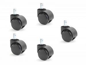Set de 5 roulettes pour sol dur 11mm / 50mm de la marque image 0 produit