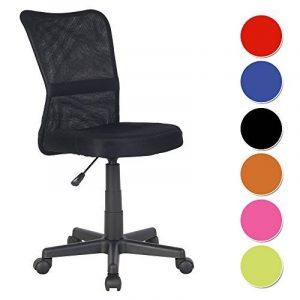 SixBros. Chaise de bureau noire - H-298F/2064 de la marque image 0 produit
