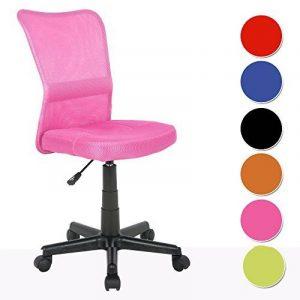 SixBros. Chaise de bureau rose - H-298F/1412 de la marque image 0 produit