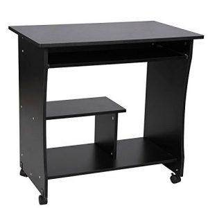 Songmics Bureau Informatique Roulant Table Informatique Meuble de Bureau pour Ordinateur noir LCD858B de la marque image 0 produit