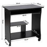 Songmics Bureau Informatique Roulant Table Informatique Meuble de Bureau pour Ordinateur noir LCD858B de la marque image 6 produit