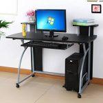 Songmics Bureau Informatique Table Informatique Meuble de Bureau pour Ordinateur 120 x 59 x 90 cm LCD812B de la marque image 1 produit