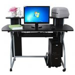 Songmics Bureau Informatique Table Informatique Meuble de Bureau pour Ordinateur 120 x 59 x 90 cm LCD812B de la marque image 2 produit
