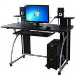Songmics Bureau Informatique Table Informatique Meuble de Bureau pour Ordinateur 120 x 59 x 90 cm LCD812B de la marque image 3 produit
