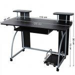 Songmics Bureau Informatique Table Informatique Meuble de Bureau pour Ordinateur 120 x 59 x 90 cm LCD812B de la marque image 4 produit