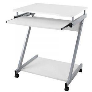 Songmics Bureau Informatique Table Informatique Meuble de Bureau Pour Ordinateur Blanc LCD811W de la marque image 0 produit