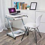 Songmics Bureau Informatique Table Informatique Meuble de Bureau Pour Ordinateur Blanc LCD811W de la marque image 1 produit