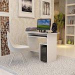 Songmics Bureau Informatique / Table Informatique Meuble de Bureau Pour Ordinateur blanc LCD852W de la marque image 1 produit