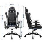 Songmics Chaise gamer Fauteuil de bureau Chaise pour ordinateur hauteur réglable noir + blanc RCG12W de la marque image 6 produit