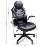 Songmics Fauteuil de bureau Chaise pour ordinateur réglable simili cuir OBG61B de la marque image 1 produit