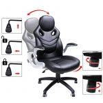 Songmics Fauteuil de bureau Chaise pour ordinateur réglable simili cuir OBG61B de la marque image 5 produit