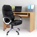Songmics noir Chaise fauteuil de bureau Chaise pour ordinateur hauteur réglable simili cuir OBG24B de la marque image 1 produit