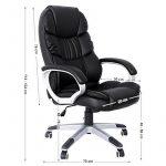 Songmics noir Chaise fauteuil de bureau Chaise pour ordinateur hauteur réglable simili cuir OBG24B de la marque image 4 produit