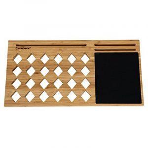Songmics Support Tablette pour ordinateurs portables ventilé en Bambou Table de lit support 56 x 28 x 2 cm LLD560 de la marque image 0 produit