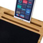 Songmics Support Tablette pour ordinateurs portables ventilé en Bambou Table de lit support 56 x 28 x 2 cm LLD560 de la marque image 4 produit