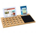 Songmics Support Tablette pour ordinateurs portables ventilé en Bambou Table de lit support 56 x 28 x 2 cm LLD560 de la marque image 5 produit