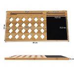 Songmics Support Tablette pour ordinateurs portables ventilé en Bambou Table de lit support 56 x 28 x 2 cm LLD560 de la marque image 6 produit
