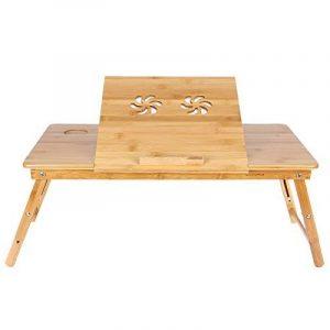 Songmics Table de lit pliable en Bambou pour PC Ordinateur Portable Tablette avec tiroir LLD004 de la marque Songmics image 0 produit