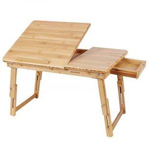 Songmics Table de lit pliable en bambou pour PC ordinateur portable tablette inclinable 55 x 35 x 29 cm LLD01N de la marque Songmics image 0 produit