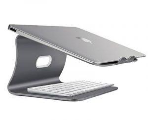 Spinido Support de radiateur pour ordinateur portable exquisite aluminium compatible avec Apple Macbook et tous les ordinateurs portables (Breveté) (Gris Laptop Stand) de la marque image 0 produit