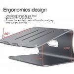 Spinido Support de radiateur pour ordinateur portable exquisite aluminium compatible avec Apple Macbook et tous les ordinateurs portables (Breveté) (Gris Laptop Stand) de la marque image 5 produit