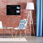 Stationery Island Tableau Magnétique en Verre – Memo Board Magnétique Noir 45x60cm de la marque image 3 produit
