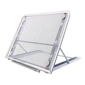 Support d'ordinateur portable, Métal engrener réglable ventilé Laptop Stand Refroidisseur, 24x19CM/9.45x7.48Inch (gris argent) de la marque image 0 produit