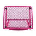 Support d'ordinateur portable, Métal engrener réglable ventilé Laptop Stand Refroidisseur, 24x19CM/9.45x7.48Inch (rose) de la marque image 1 produit